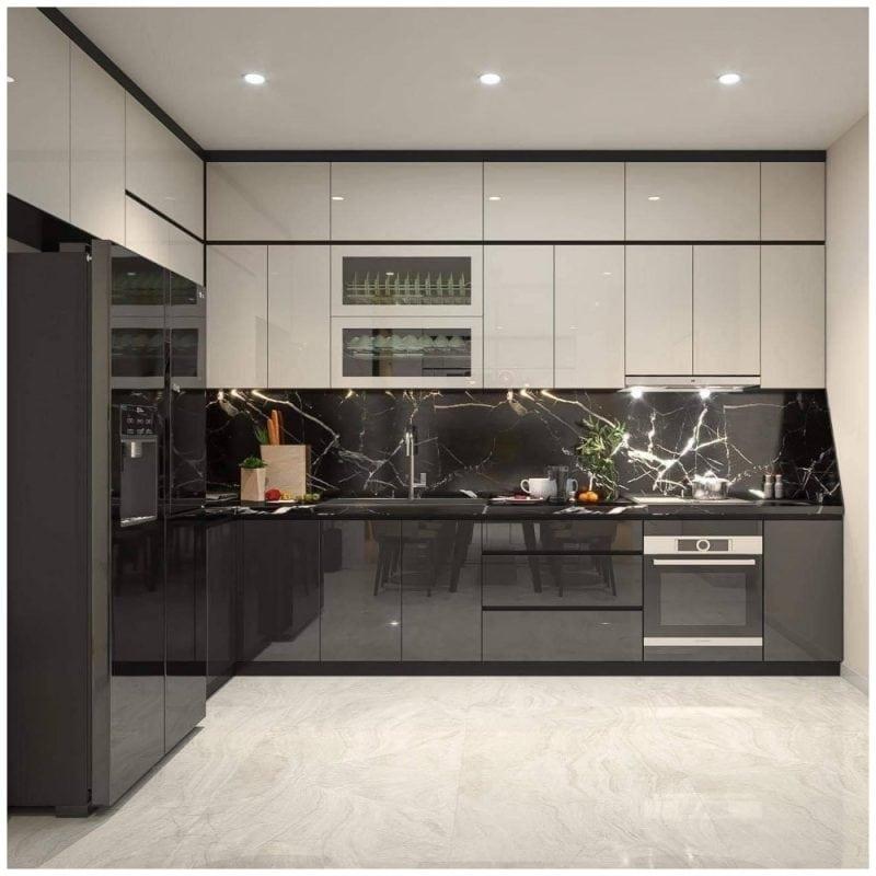Tủ Bếp Acrylic – TB15