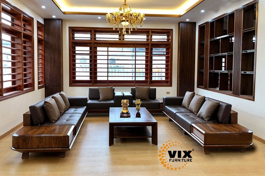 Sofa Gỗ- Sofa Sang Trọng- Nội Thất Vix Furniture