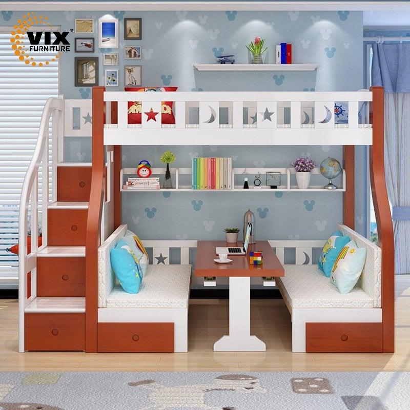 Giường Tầng Trẻ Em- Giường Tầng Đa Năng- Nội Thất Vix Furniture