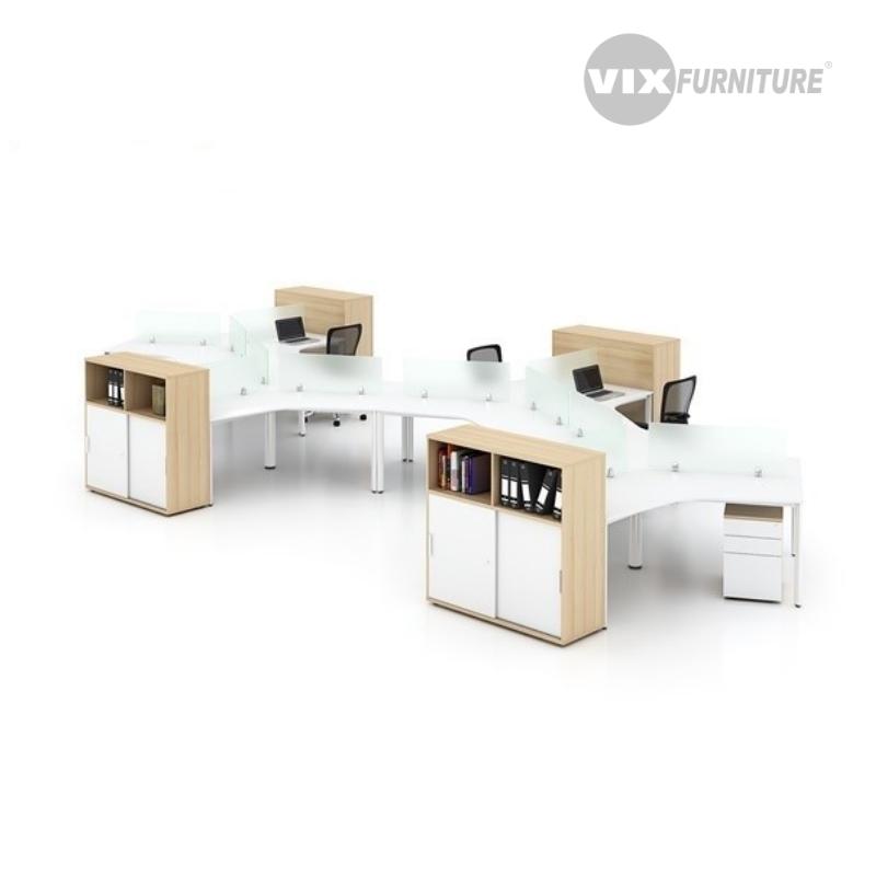 Cụm bàn làm việc Vix DC02